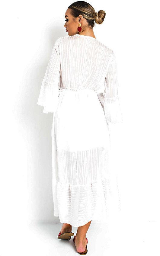 2336619583c Etta Shimmer Frill Maxi Dress in White