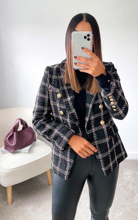 Eva Tweed Blazer Jacket