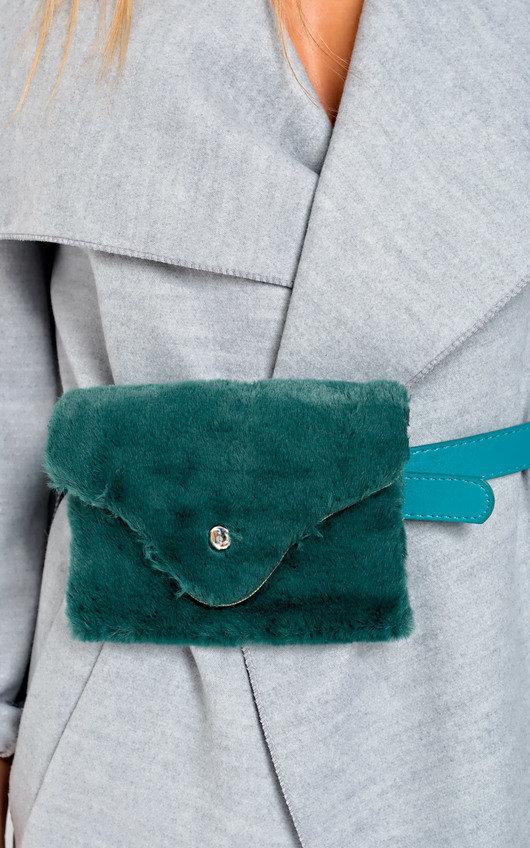 Evie Faux Fur Belt Purse