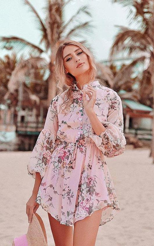 Evie Floral Shirt Dress
