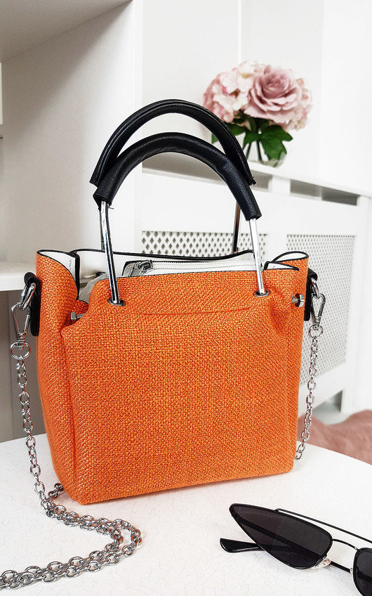 Fabia Mini Textured Chain Handbag
