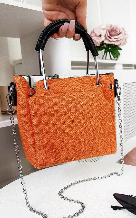 Fabia Mini Textured Chain Handbag