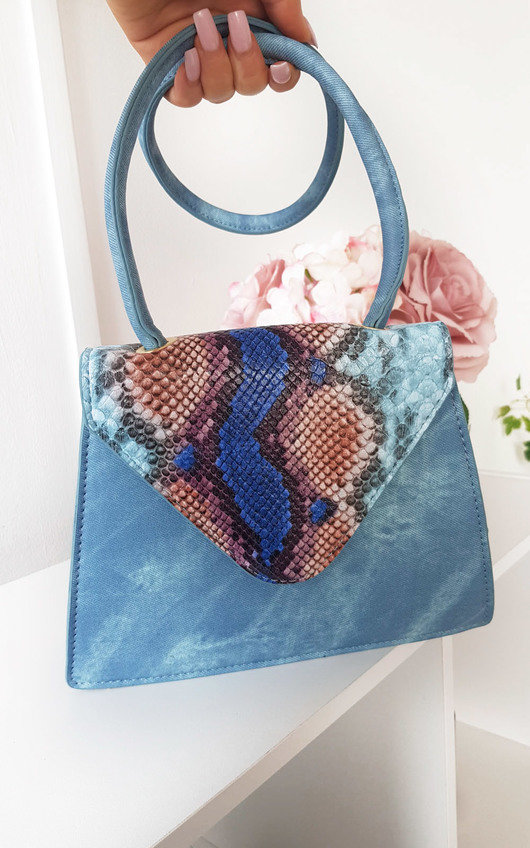 Faith Croc Print Shoulder Handbag