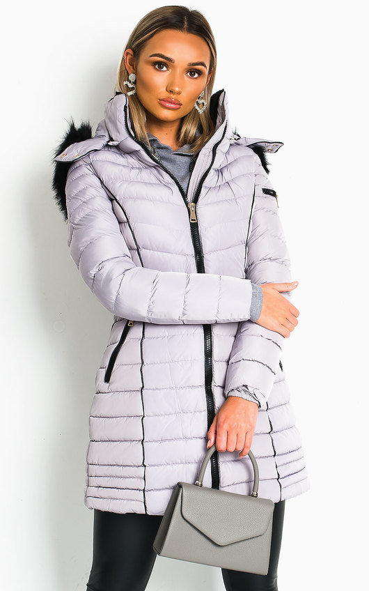 Fallon Padded Hooded Longline Puffer Jacket