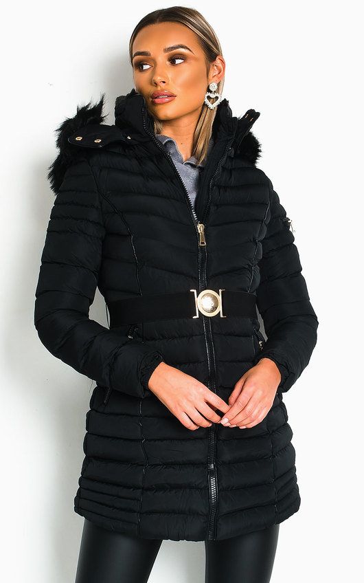 Fallon Padded Hooded Longline Puffer Jacket