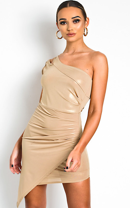Felina One Shoulder Shimmer Mini Dress