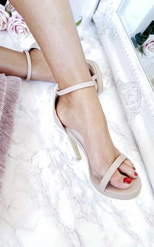 Ferya Barely There Platform Heels