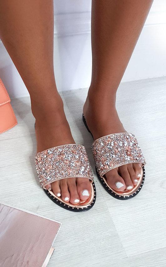 Fifi Embellished Slip On Sandals