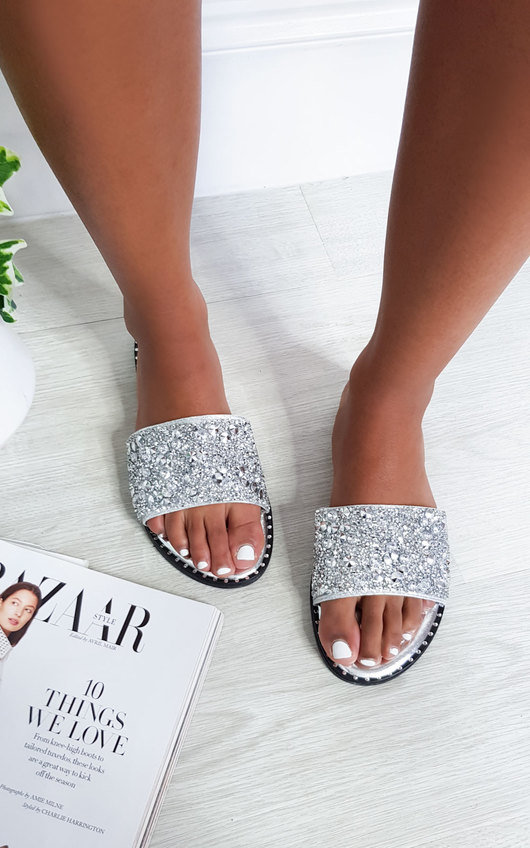 Fifi Embellished Slip On Sandals