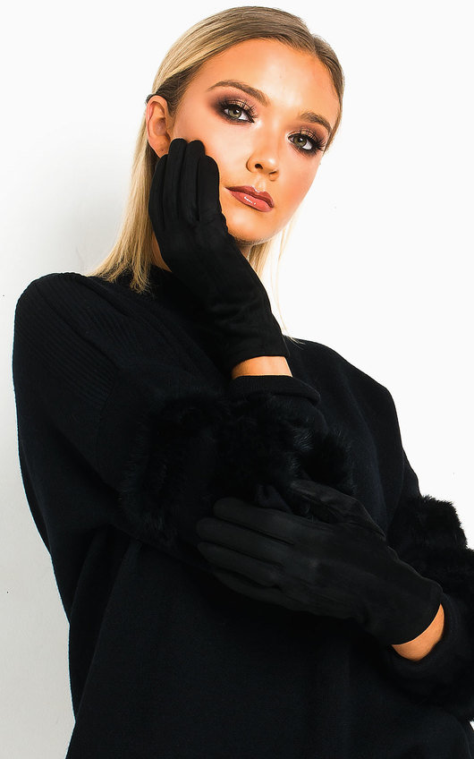 Fifi Faux Suede Gloves