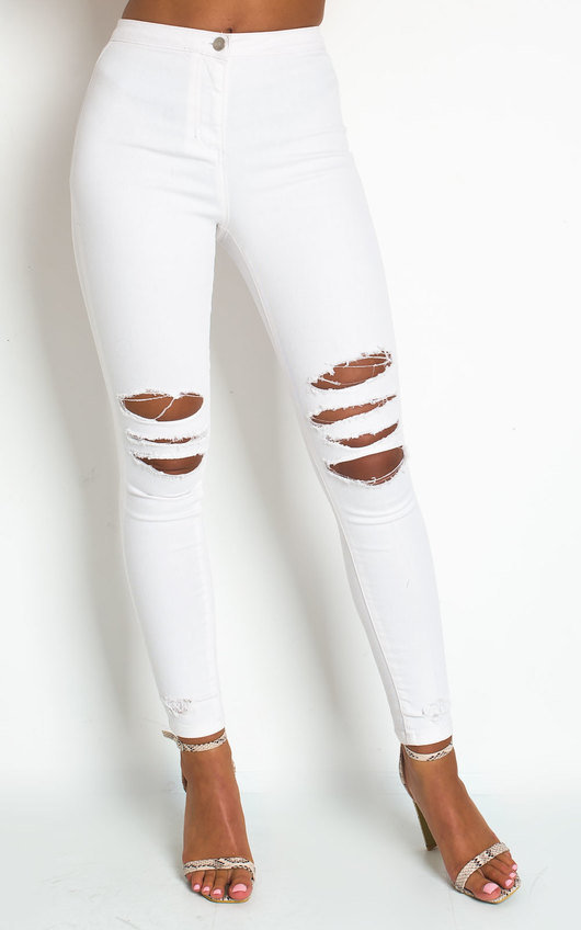 Fifi Ripped Knee Skinny Jeans