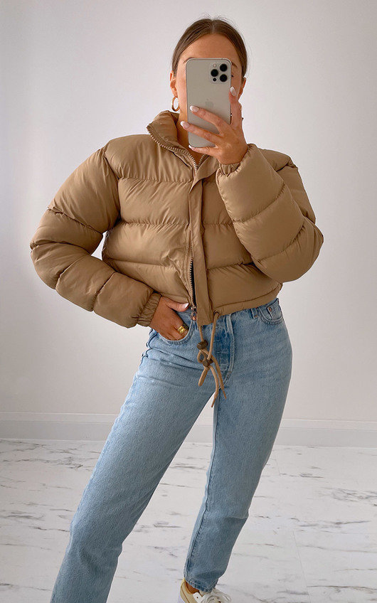 Fizz Cropped Padded Puffer Jacket