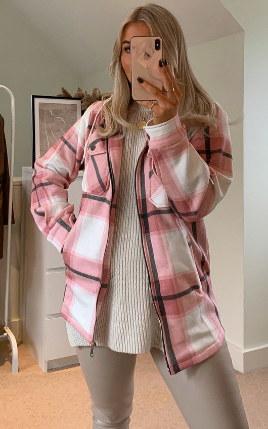 Fliss Checked Hooded Shirt Jacket