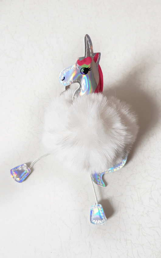 Fliss Pom Pom Animal Keyring
