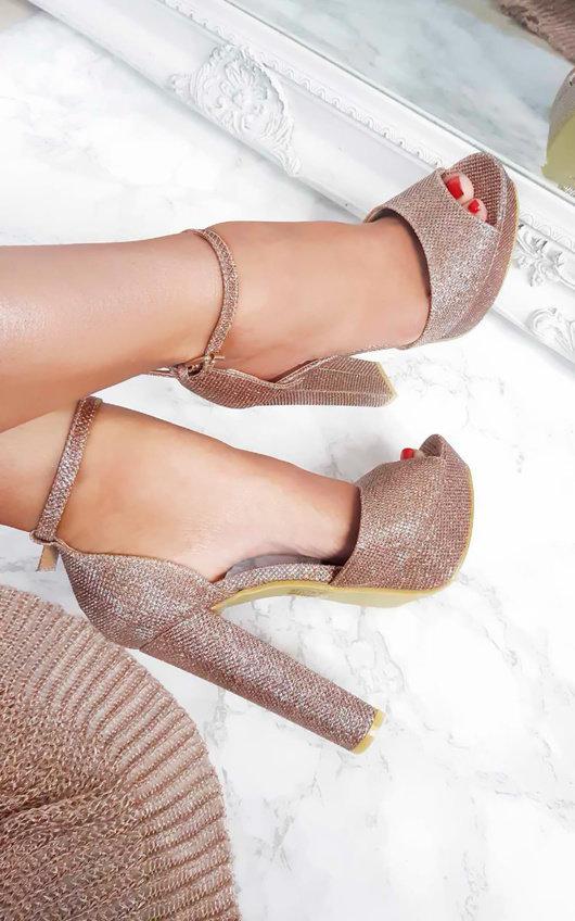 Florence Glitter Block Heels