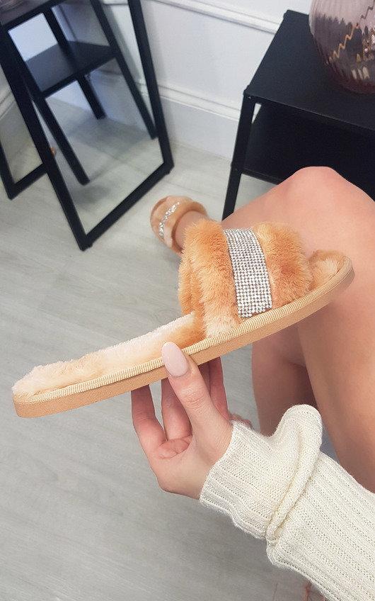 Fran Faux Fur Slider Slippers