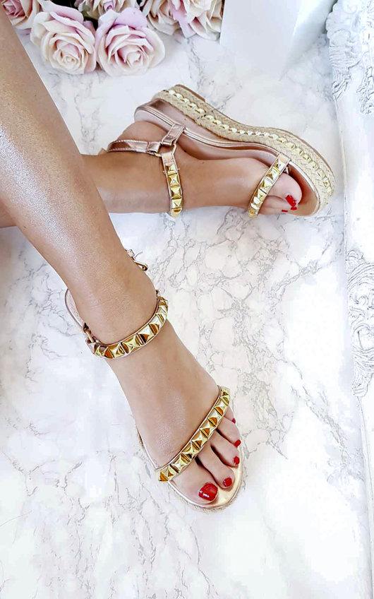 Seritta Studded Strap Wedge Sandal