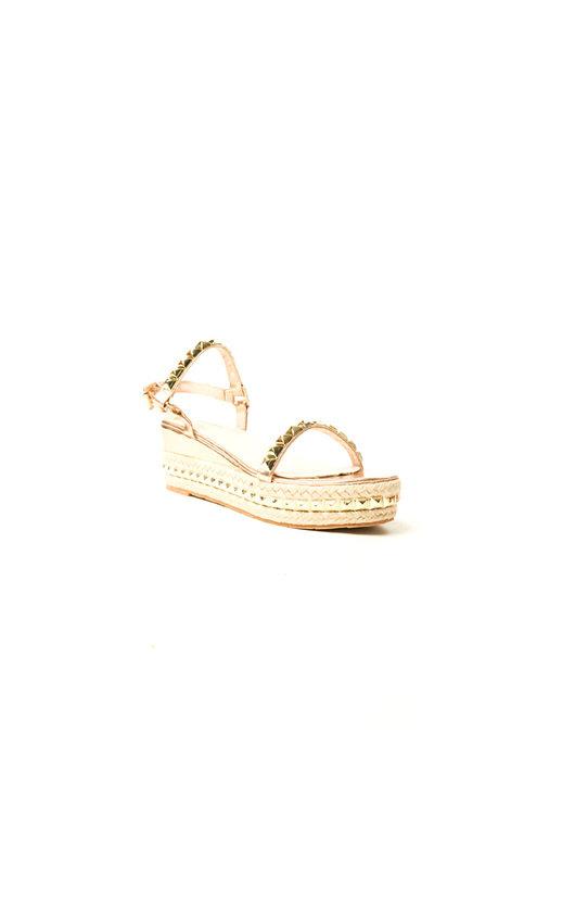 91c58c561 Seritta Studded Strap Wedge Sandal in Rose gold