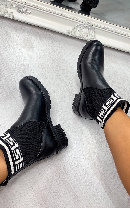 Frankie Printed Ankle Boots