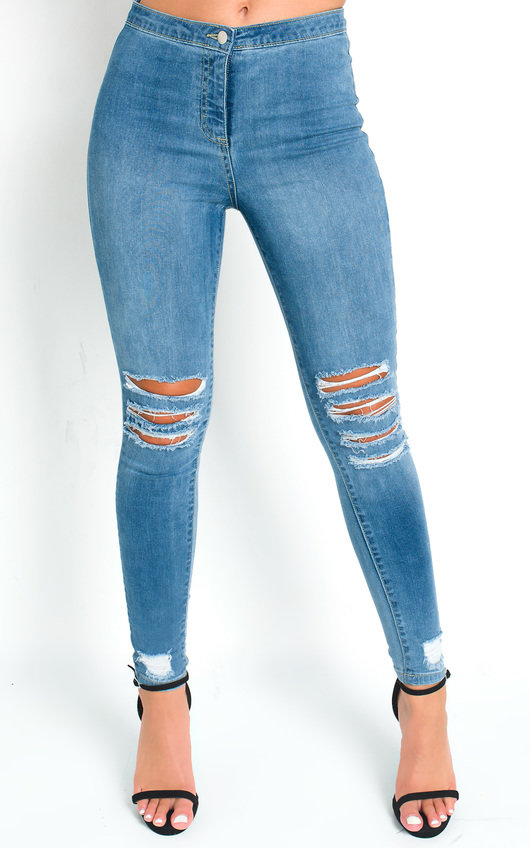 Frankie Ripped Stretch Skinny Jeans