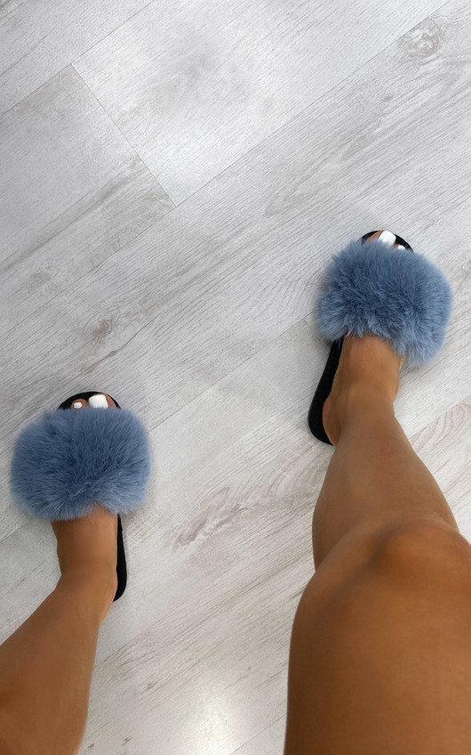 Freda Faux Fur Sliders