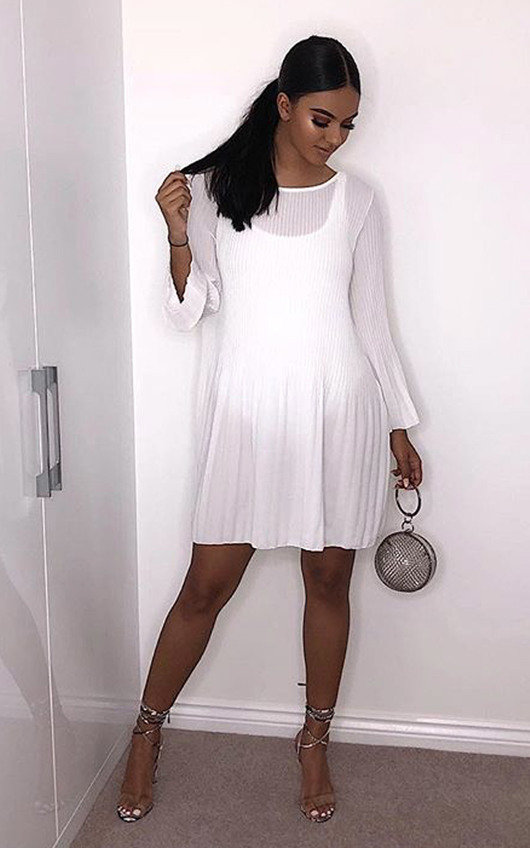 Freja Crinkle Flare Shift Dress