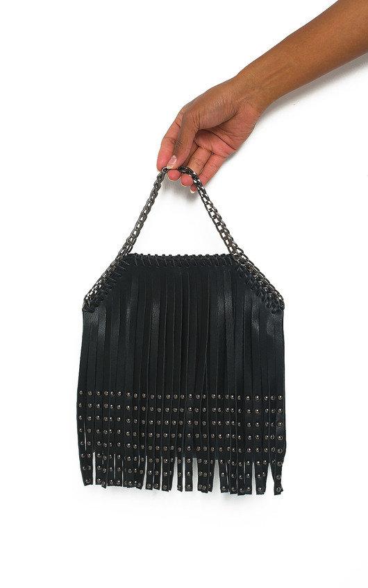 Freja Fringe Studded Shoulder Bag