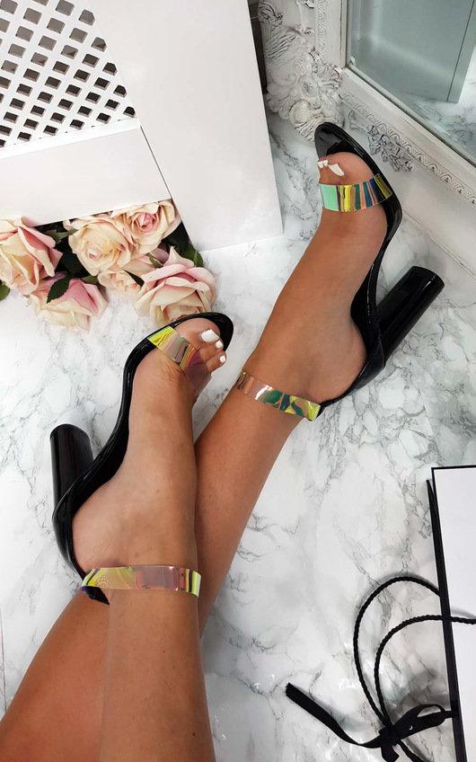 Freja Iridescent Barely There Block Heels