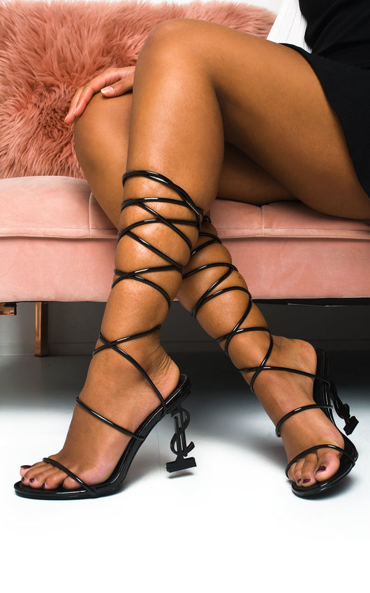 Freya Lace Up Statement Dollar Heels