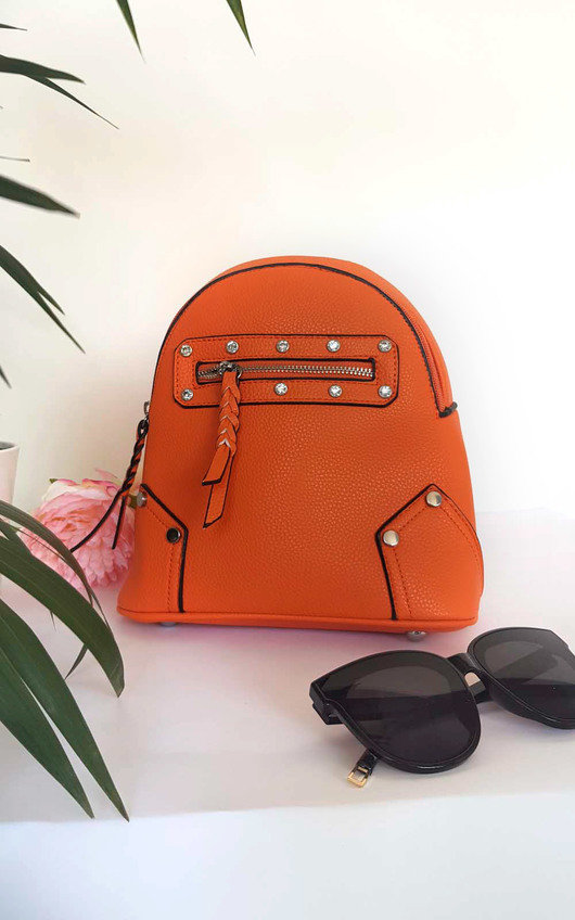 Frida Faux Leather Mini Backpack Bag