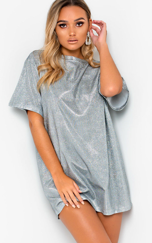 Frida Glitter Oversized T-shirt Dress