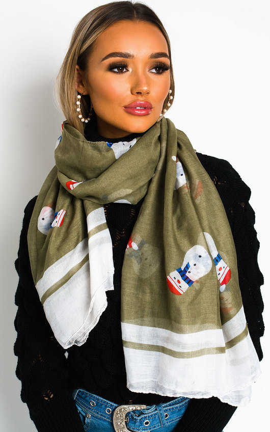 Frosty Snow Man Scarf