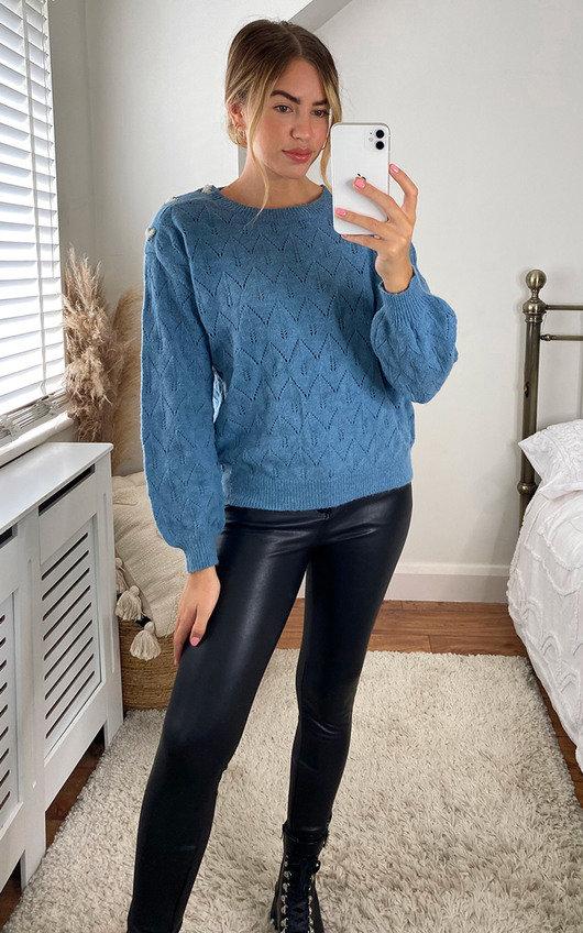 Gabbie Heart Design Knitted Jumper