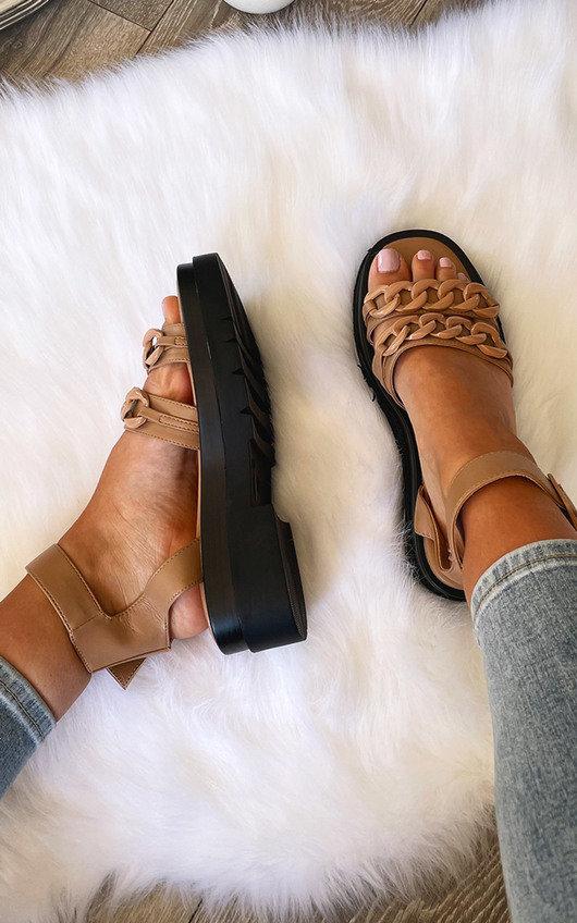 Gabriella Chain Strappy Buckle Sandals