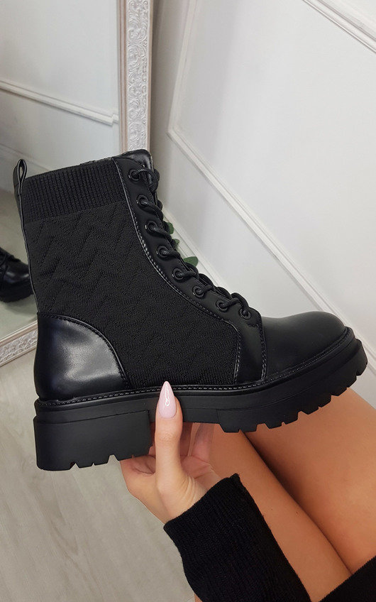 Gemma Faux Leather Lace Up Ankle Boot
