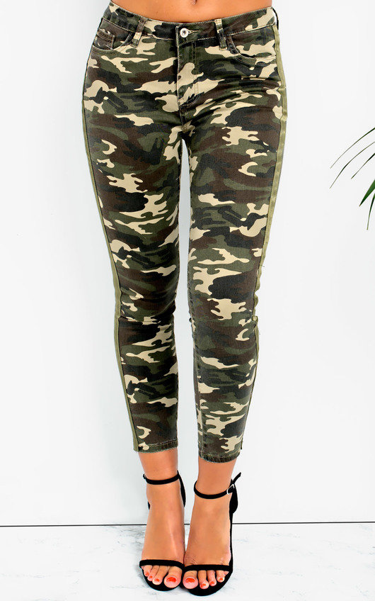 Geo Skinny Camouflage High-Rise Jeans