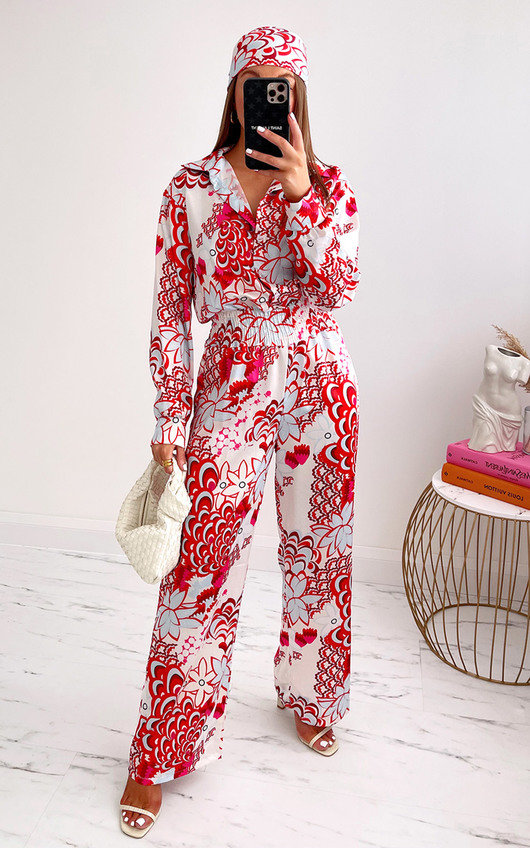 Geri Printed Jumpsuit with Bandana