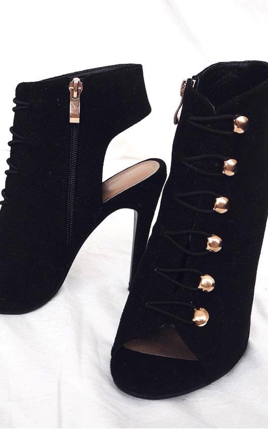 Gia Looped Corset Peep Toe Heels