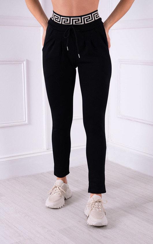 Gia Printed High Waist Slim Leg Joggers