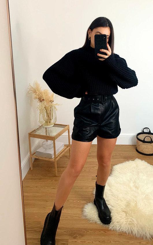 Gianna Faux Leather Shorts