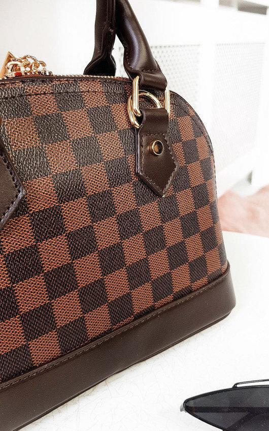 Gigi Check Handbag