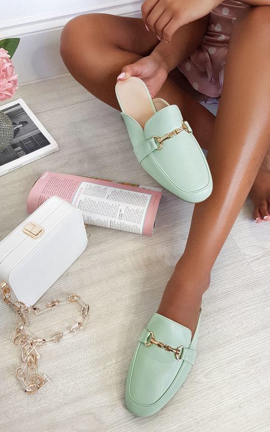 Gigi Faux Leather Mule Sandal