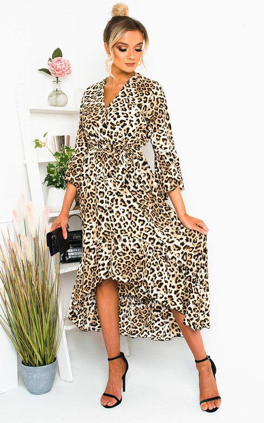 Gigi Printed Frill Maxi Dress
