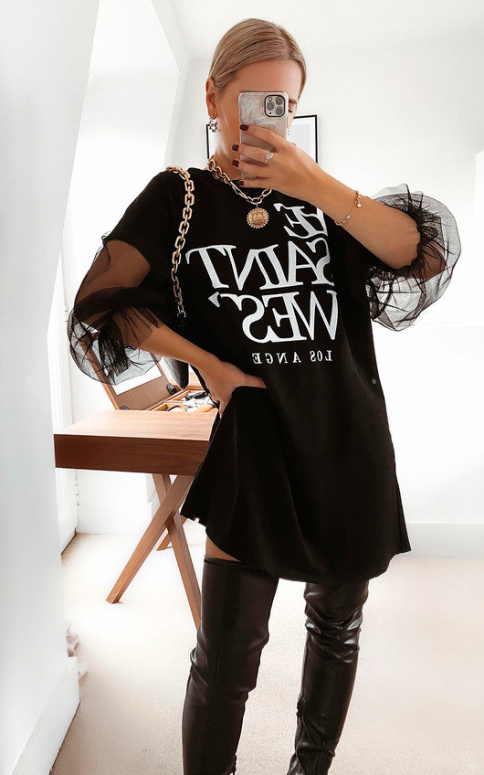 Gigi Slogan Jumper Dress