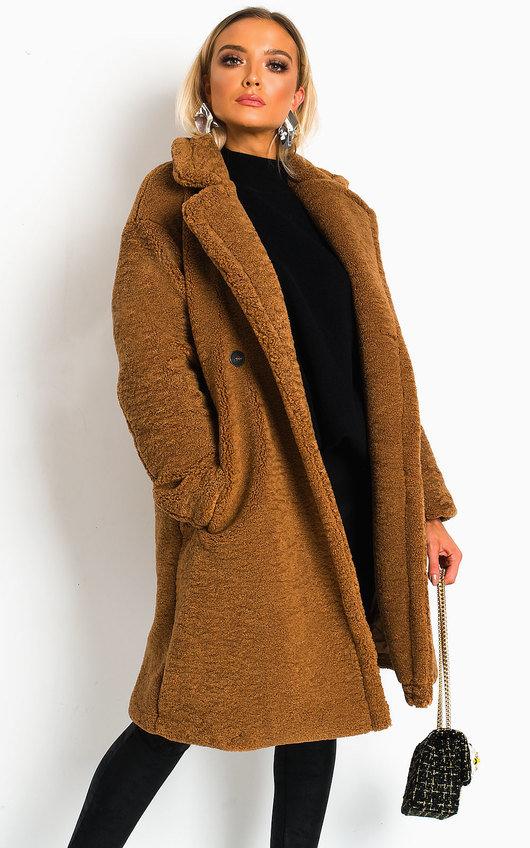 Gigi Teddy Bear Maxi Coat