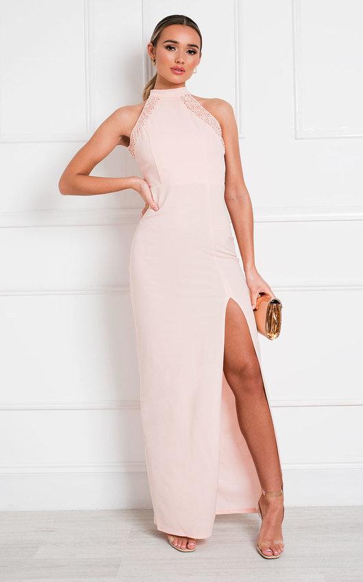 Gillian Bodycon High Neck Maxi Dress