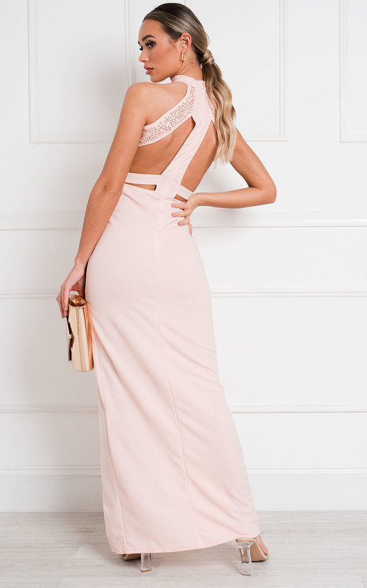 Gillian Bodycon High Neck Maxi Dress