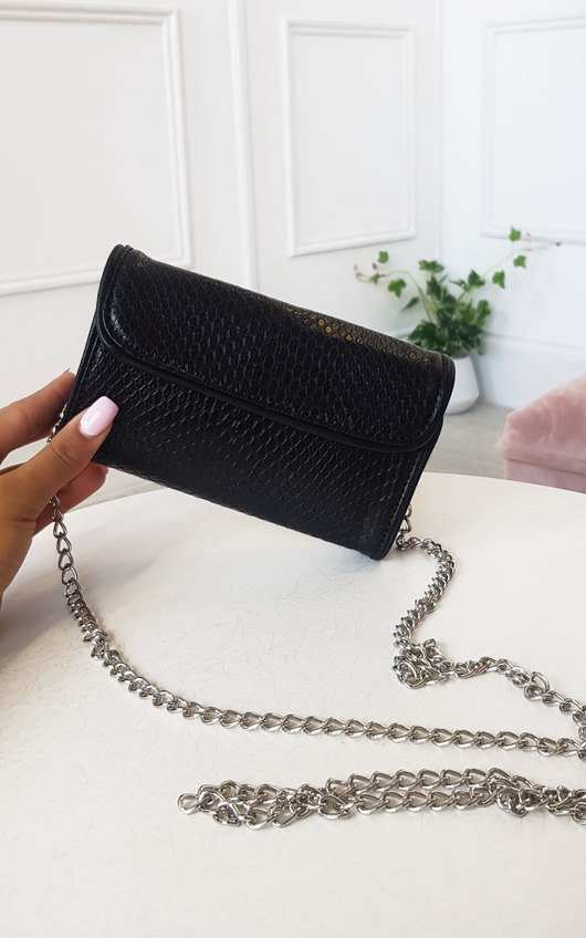 Gina Faux Leather Croc Print Handbag