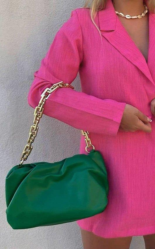 Gina Gold Chain Slouch Handbag