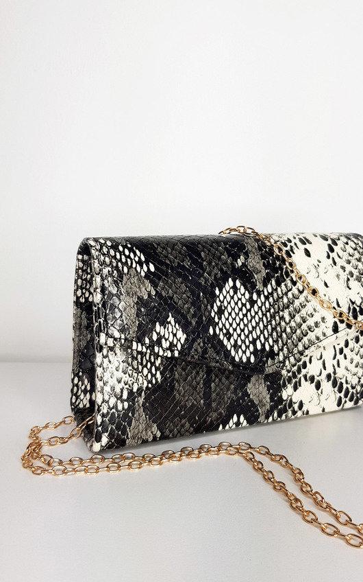 Gina Snake Print Handbag
